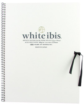 "Holbein White Ibis Watercolor Spiral-bound Book F4 (8.2713"")"