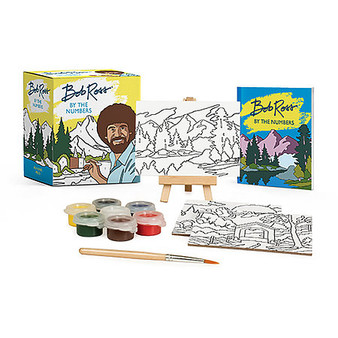 Running Press Bob Ross by Numbers Kit Mini Edition
