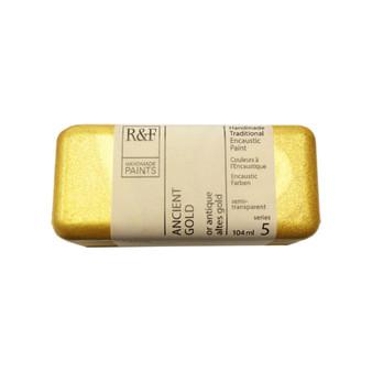 R&F Encaustic Paint 104ml Ancient Gold
