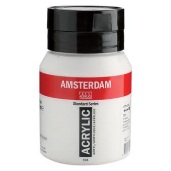 Amsterdam Acrylic 500ml Jar Titanium White