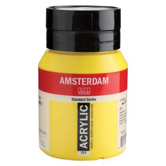 Amsterdam Acrylic 500ml Jar Primary Yellow