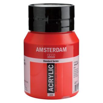 Amsterdam Acrylic 500ml Jar Pyrrole Red