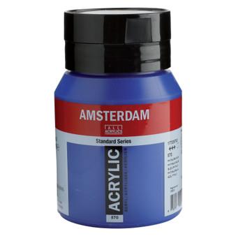 Amsterdam Acrylic 500ml Jar Phthalo Blue