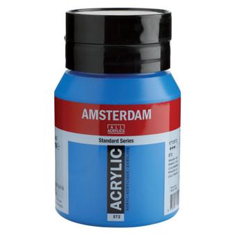 Amsterdam Acrylic 500ml Jar Primary Cyan