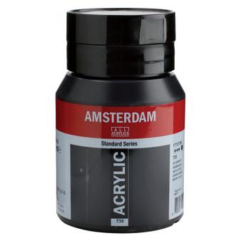 Amsterdam Acrylic 500ml Jar Oxide Black