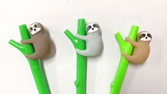 BC Mini Toy Gel Pen Sloth - Assorted Style Single Item
