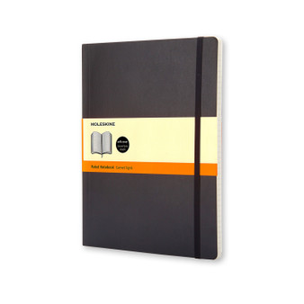 Moleskine Soft Cover Notebook Extra-Large Ruled Black