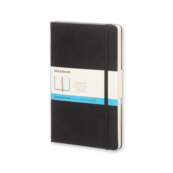 Moleskine Classic Notebook Hard Cover Large Dotted Black