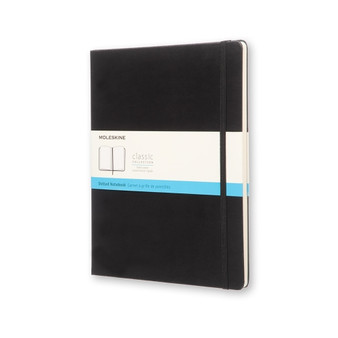 Moleskine Classic Notebook Hard Cover Extra-Large Dotted Black
