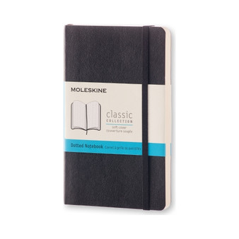 Moleskine Classic Notebook Soft Cover Pocket Dotted Black