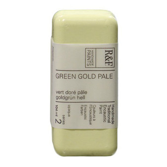 R&F Encaustic Paint 104ml Green Gold Pale