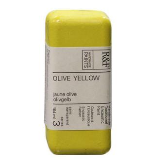 R&F Encaustic Paint 104ml Olive Yellow