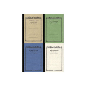 "Apica Scroll Notebook ""CD"" Mini 4x2.75"" Assorted Cool Colors"