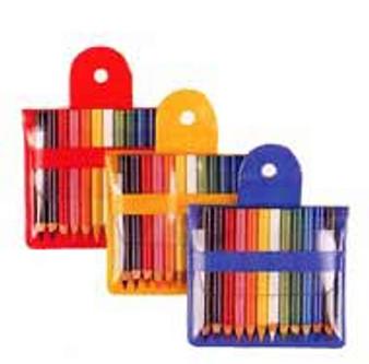 Mini Colored Pencil Pouch of 12 Tiny Pencils