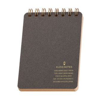 Kleid Kraft Memo Grid Spiral-bound A6 Charcoal