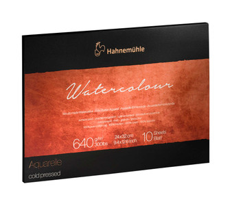 Hahnemuhle The Collection Series Watercolor Block 9.45x12.6in Cold Press 300lb (640gsm)