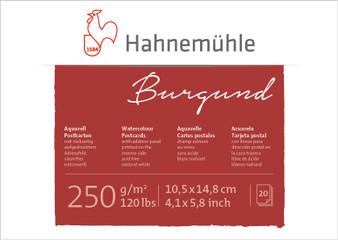 Hahnemuhle Burgund Watercolor Postcard Rough 120lb 4x6 20 Sheet