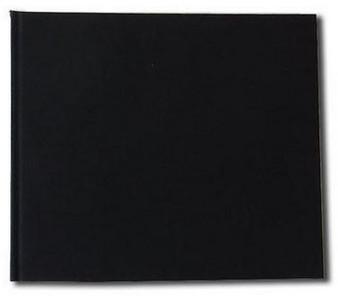 """Kunst & Papier Watercolor Book 9.4x8.1"""" Landscape Black"""