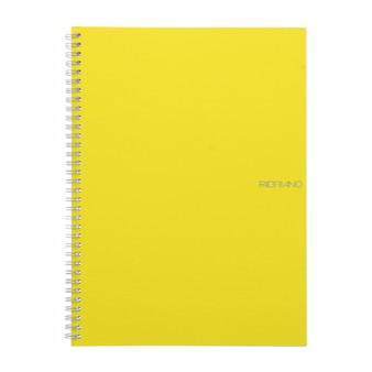 "Fabriano EcoQua Spiral-bound Blank Paper 8.2""x 11.7"" Lemon"