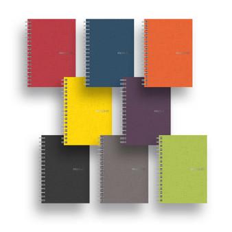 "Fabriano EcoQua Spiral-bound Blank Paper 5.8""x8.2"" Blue"