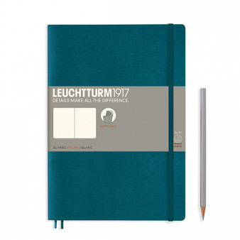 Leuchtturm 1917 B5 Composition Soft Cover Blank Pacific Green