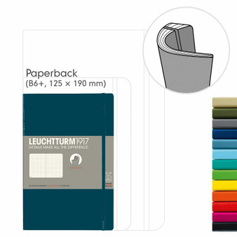 Leuchtturm 1917 Soft Cover Notebook B6 Dotted Pacific Green