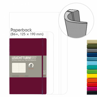 Leuchtturm 1917 Soft Cover Notebook B6 Dotted Port Red