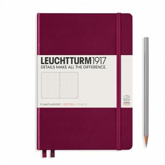Leuchtturm 1917 Hardcover Dotted Notebook A5 Medium Port Red