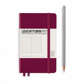 Leuchtturm 1917 Hardcover Dotted Notebook A6 Pocket Port Red
