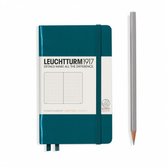 Leuchtturm 1917 Hardcover Dotted Notebook A6 Pocket Pacific Green