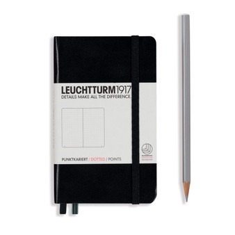 Leuchtturm 1917 Hardbound Dotted Notebook Pocket Size Black