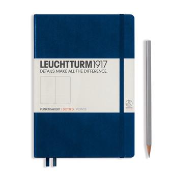 Leuchtturm 1917 Hardbound Dotted Notebook Medium Size Navy