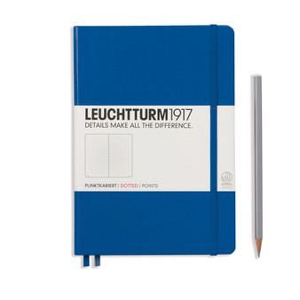 Leuchtturm 1917 Hardbound Dotted Notebook Medium Size Royal Blue