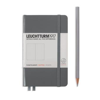 Leuchtturm 1917 Hardbound Dotted Notebook Pocket Size Anthracite