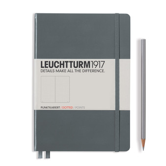 Leuchtturm 1917 Hardbound Dotted Notebook Medium Size Anthracite