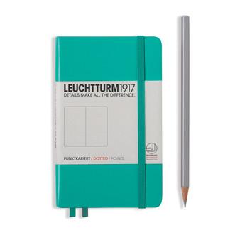Leuchtturm 1917 Hardbound Dotted Notebook Pocket Size Emerald