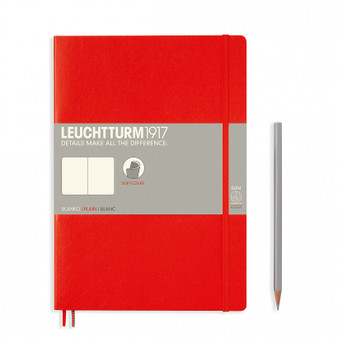 Leuchtturm 1917 Soft Cover Blank Notebook Composition Red