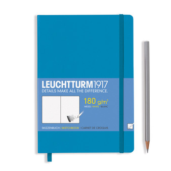 Leuchtturm 1917 Hardbound Sketchbook Medium Size Azure