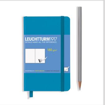 Leuchtturm 1917 Hardbound Sketchbook Pocket Size Azure