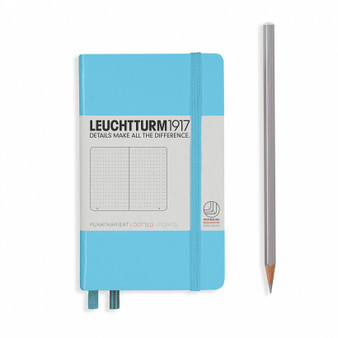 Leuchtturm 1917 Hardcover Dotted Notebook A6 Pocket Ice Blue