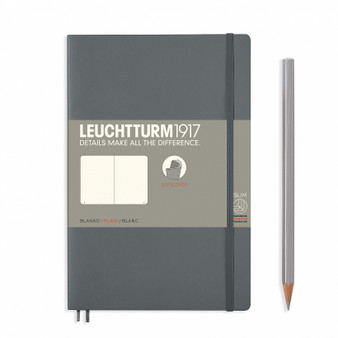 Leuchtturm 1917 Soft Cover Notebook B6 Blank Anthracite