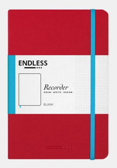 Endless Recorder Notebook Blank Crimson Sky Red