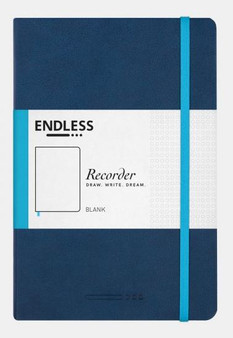 Endless Recorder Notebook Blank Deep Ocean Blue
