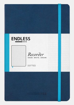 Endless Recorder Notebook Dotted Deep Ocean Blue