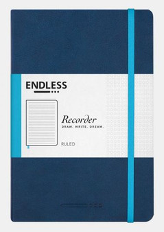 Endless Recorder Notebook Ruled Deep Ocean Blue