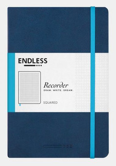 Endless Recorder Notebook Squared Deep Ocean Blue