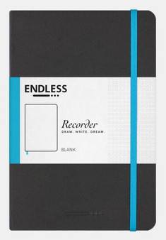 Endless Recorder Journal Blank Infinite Space Black