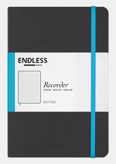 Endless Recorder Journal Dotted Infinite Space Black