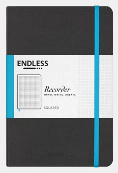 Endless Recorder Journal Squared Infinite Space Black