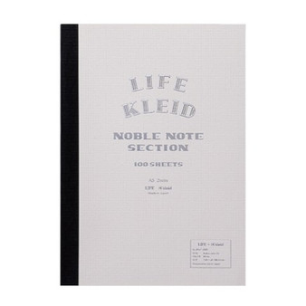 Kleid Life Noble Note A5 Notebook White with Cream Grid Paper